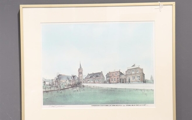 Siewert Ciano (1942-), gesign. l.o., opening nieuwe pand, litho, oplage:...