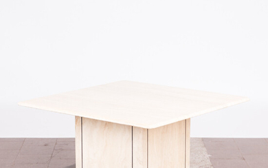Table / coffee table, travertine, 1970s, Italy.
