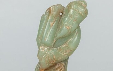 Tall Chinese Jade Carving of Figure