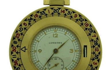 Vintage Longines 14k Yellow Gold Roulette Pocket WATCH