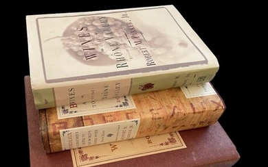 3 hardcover wine books by Robert McDowell Parker Jr.. Considered the world's most famous and influential wine critic.