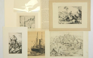 5 American etchings