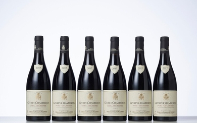 6 Bouteilles GEVREY-CHAMBERTIN LES CAZETIERS (1° Cru) Année : 2017 Appellation : Domaine Philippe Naddef...