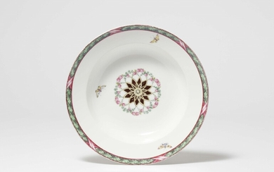 A Berlin KPM porcelain dish from a later addition to the dinner service for Friedrich Wilhelm III