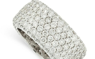 A DIAMOND ETERNITY BAND RING in 18ct white gold, the