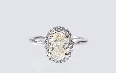 A Diamond Solitaire Ring.