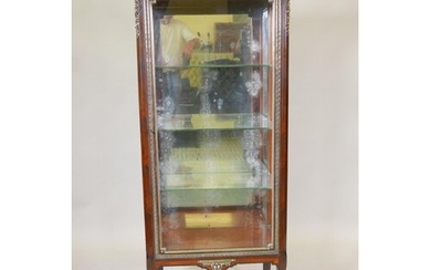 A French Empire style rosewood vitrine, with marble top and ...