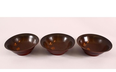 A GROUP OF THREE EARLY 20TH CENTURY MEIJI PERIOD LACQUER BOW...