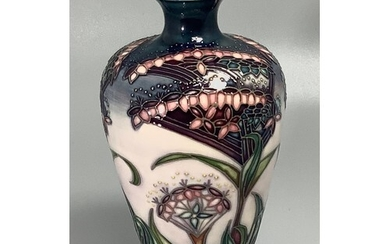 A Moorcroft pottery vase of inverted baluster form, decorate...