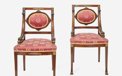 A Pair of Louis Phillippe Ormolu-Mounted Mahogany