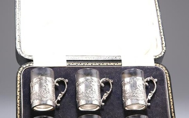A SET OF SIX GEORGE V SILVER TOT CUPS, by