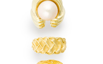A group of gold rings