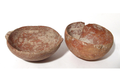 A pair of Cypriot red-ware bowls