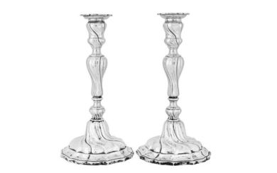 A pair of early 20th century German 800 standard silver