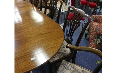A set of eight Georgian style mahogany Dining Chairs, with p...