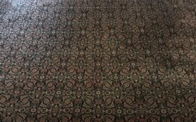 Antique Hand Knotted Wool Persian Carpet