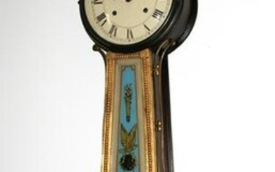 Banjo Clock with Reverse Painted Panels