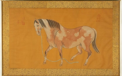 Chinese Painting on Silk of Horse
