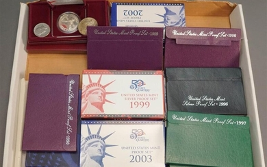 Collection of U.S. Proof Sets and Uncirculated Coin Sets