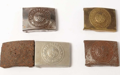 Collection of WWII and later German Heer belt buckles