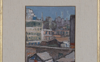 ERNST LEONARD. oil on Board, signed and dated -69.