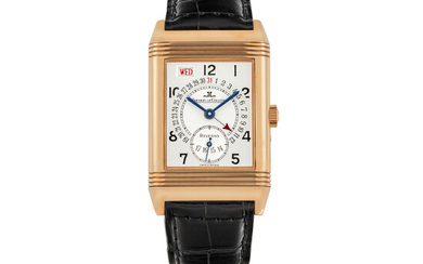JAEGER-LECOUTLRE, PINK GOLD REVERSO, DAY AND DATE
