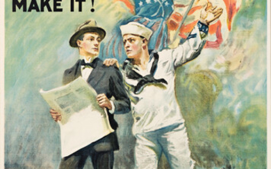 JAMES MONTGOMERY FLAGG (1870 1960) THE NAVY NEEDS YOU DONT