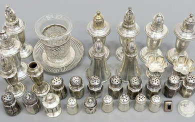 (LOT) STERLING & WEIGHTED SILVER TABLEWARE