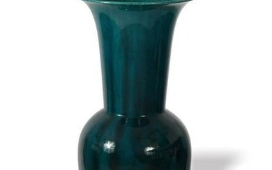 Large Peacock Blue Chinese Vase, Late 19th Century