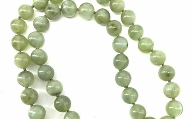 Luxe Jade Style Princess Length Beaded Necklace