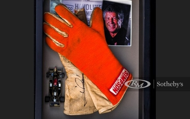 Mario Andretti Race Worn and Signed Gloves
