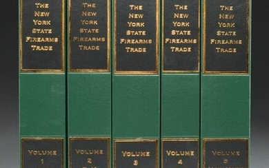 NEW 5 VOLUME SET NEW YORK STATE FIREARMS TRADE