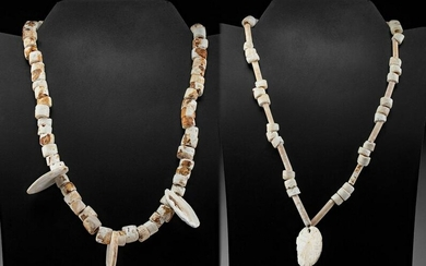 Prehistoric Mississippian Shell Bead Necklaces (pr)
