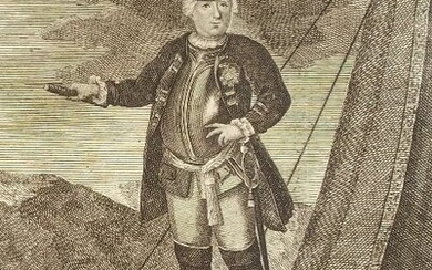 Prussian King Frederick William I engraving 1720-30