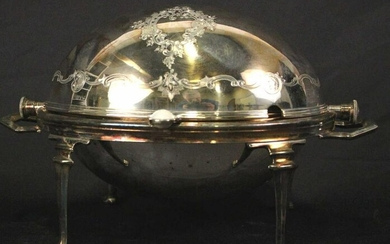 SILVER PLATED DOMED SERVING DISH