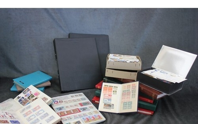 Seven albums of British and world stamps, mainly Queen Eliza...