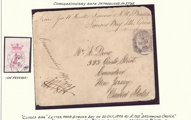 "South African Maritime Mail from 1677 The ""Joachim"" Collection The Union Steamship Company 1883..."