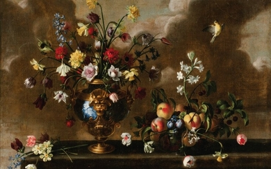 Still life with flowers and fruits, Antonio Ponce