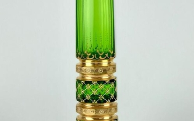 19TH C. ENAMELED MOSER VASE