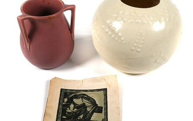 (2) pc ROOKWOOD Pottery Vases