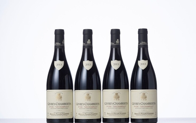 4 Bouteilles GEVREY-CHAMBERTIN LES CHAMPEAUX (1° Cru) Année : 2013 Appellation : Domaine Philippe Naddef...
