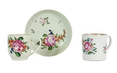 A Chaffers Liverpool Porcelain Coffee Cup and Saucer, circa 1760,...