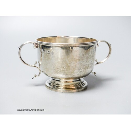 A late Victorian Scottish silver two handled bowl, Hamilton ...