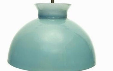 Adrasteia. Extramicated glass table lamp in water green