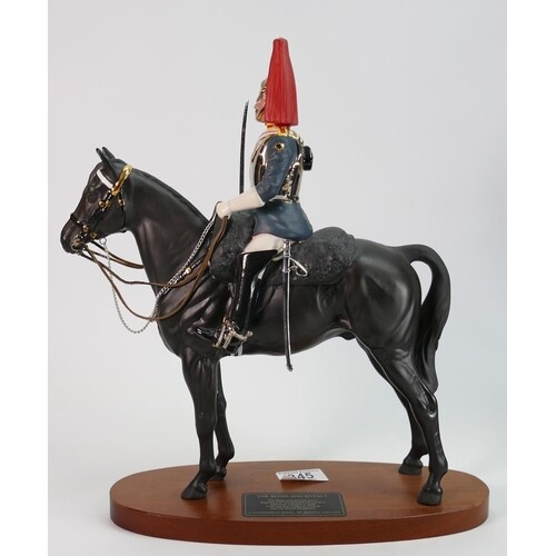 Beswick connoisseur model of The Blues & Royals: 2562 on woo...