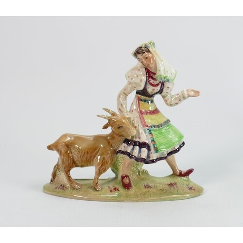 Beswick figure of a lady with goat 1234