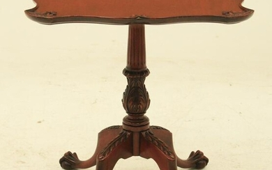 CHIPPENDALE STYLE MAHOGANY TRAY TOP TEA TABLE