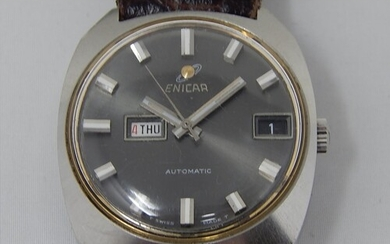 ENICAR: Gentleman's Automatic Wristwatch with Day/Date Apert...