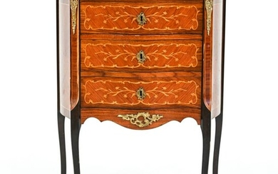 FRENCH STYLE MARQUETRY NIGHTSTAND OR SMALL CHEST