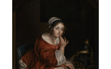 French school of the XIXth century portrait of a young